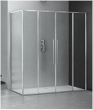 Box doccia angolare 120x140 cm con anta fissa