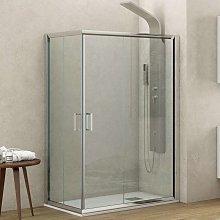 Box doccia angolare 120x80 altezza 180 cm vetro