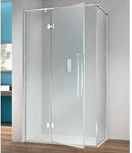 Box doccia angolare 120x80 cm anta fissa porta