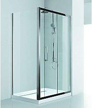 Box doccia angolare 120x80 in acciaio vetro