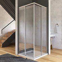 Box doccia angolare 2 ante scorrevoli trasparenti