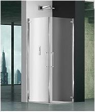 Box doccia angolare 75x100 cm porta battente