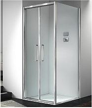 Box doccia angolare 75x95 cm anta fissa porta