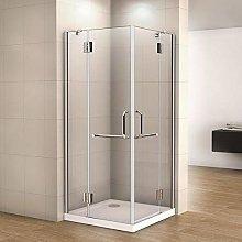 Box doccia angolare 80x100x190cm, piatto doccia