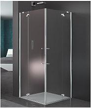 Box doccia angolare 80x120 cm porta battente
