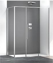 Box doccia angolare 80x160 cm con anta fissa