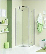Box doccia angolare 90x70 cm con angolo battente