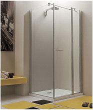 Box doccia angolare 90x90 cm anta fissa porta