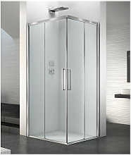 Box doccia angolare 90x90 cm apertura porta