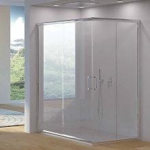 Box doccia angolare apertura scorrevole cm 100x100