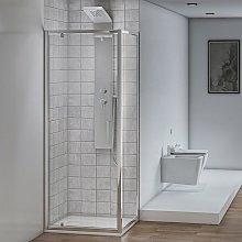 Box doccia angolare con 1 Porta Battente e 1 Fissa