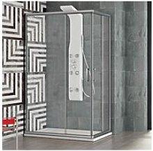 Box doccia angolare con anta scorrevole 100x80 cm