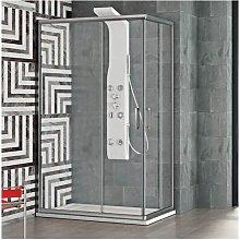 Box doccia angolare con anta scorrevole 120x80 cm