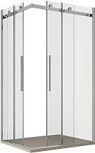 Box doccia angolare due lati 8mm trasparente