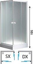 Box doccia angolare in cristallo trasparente