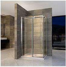 Box doccia angolare in vetro 6mm con porta