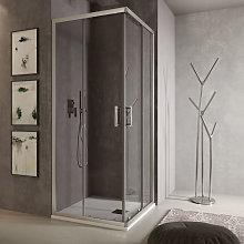 Box doccia angolare Loop 70x70 in alluminio e