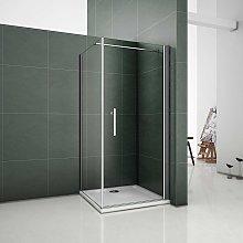 Box doccia angolare porta 90cm parete fissa 90cm