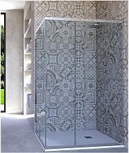 Box doccia angolare porta scorrevole 100x120 cm