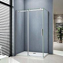 Box doccia angolare Porta scorrevole: 110cm,