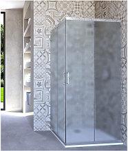 Box doccia angolare porta scorrevole 60x60 cm opaco
