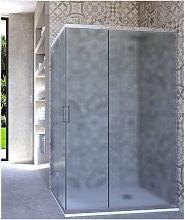 Box doccia angolare porta scorrevole 60x80 cm opaco
