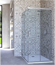 Box doccia angolare porta scorrevole 70x70 cm