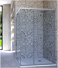 Box doccia angolare porta scorrevole 80x100 cm