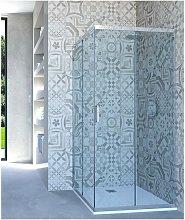 Box doccia angolare porta scorrevole 86x68 cm