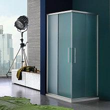 Box doccia angolare scorrevole 80x120 cm in