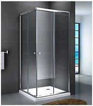 Box doccia angolare scorrevole due lati cristallo
