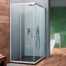 Box doccia angolare scorrevole Hera 100x70 in