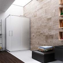 Box doccia angolare scrorrevole 100x70 cm in