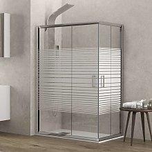 Box doccia angolo 120x80 vetro serigrafato altezza