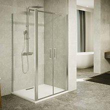 Box doccia angolo 90 x 90 x 200 cm con doppia