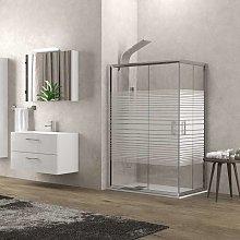 Box doccia angolo 90x70 altezza 180cm vetro