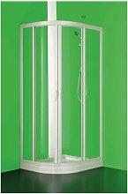 Box doccia bianco due lati scorrevole asimmetrico
