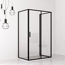 Box doccia cabina 3 lati 70x100x70 cm scorrevole
