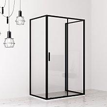 Box doccia cabina 3 lati 80x100x80 cm scorrevole