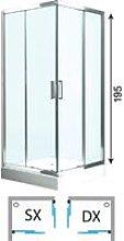 Box doccia cabina angolare circolare scorrevole