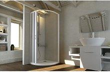 Box doccia cabina angolare tondo semicircolare in