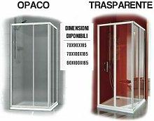 Box Doccia Cabina Bagno Angolare In Cristallo