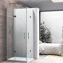 Box doccia con apertura angolare a soffietto cm