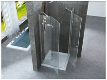 Box doccia con doppia porta battente cristallo 8mm