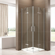 Box doccia con porta a battente installazione ad