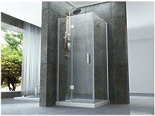 Box doccia con porta battente e lato fisso in