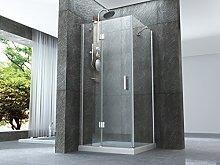 Box doccia con porta battente esterno e lato fisso