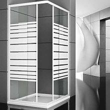 box doccia corner due ante cristallo serigrafato