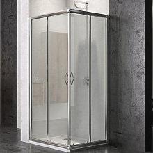 box doccia corner due ante cristallo temprato ***