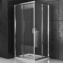 box doccia corner due ante cristallo temprato